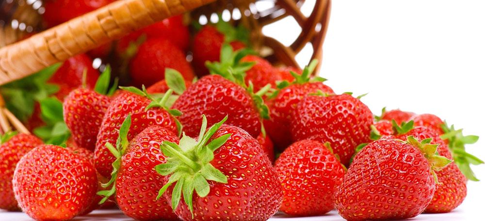 Frutillas para el cuidado de la piel